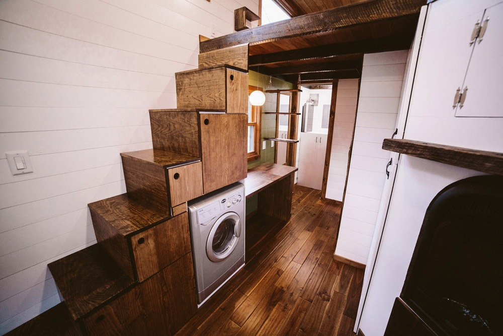 Storage Stairs - Mayflower by Wind River Tiny Homes