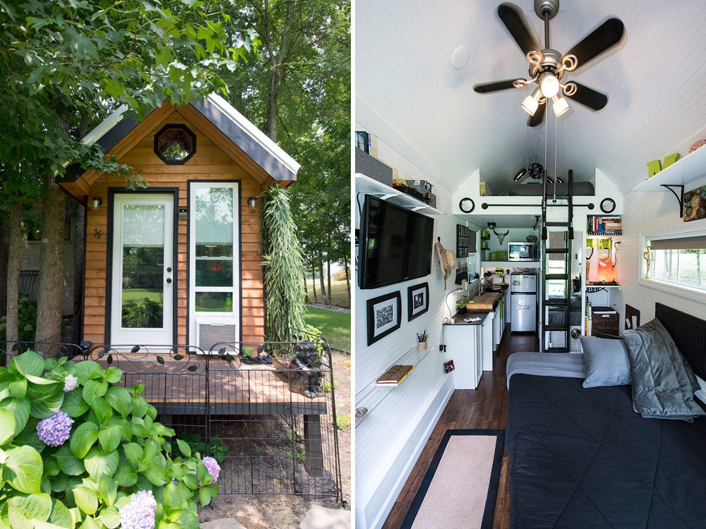 Exterior and Interior Views - Mendy's Shoebox by Tiny Happy Homes