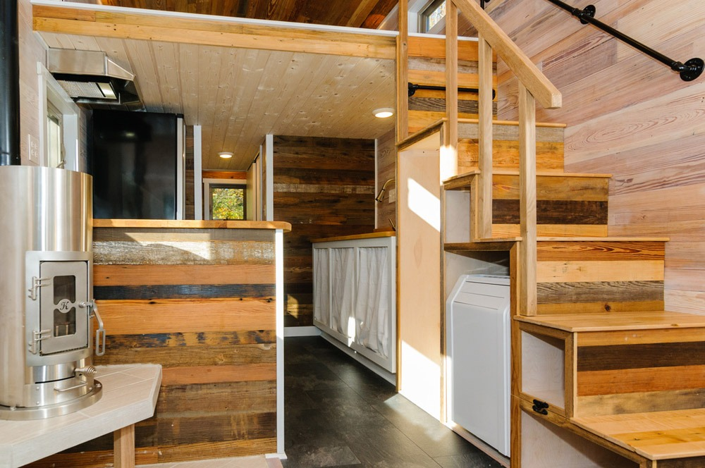 Storage Stairs - MH by Wishbone Tiny Homes