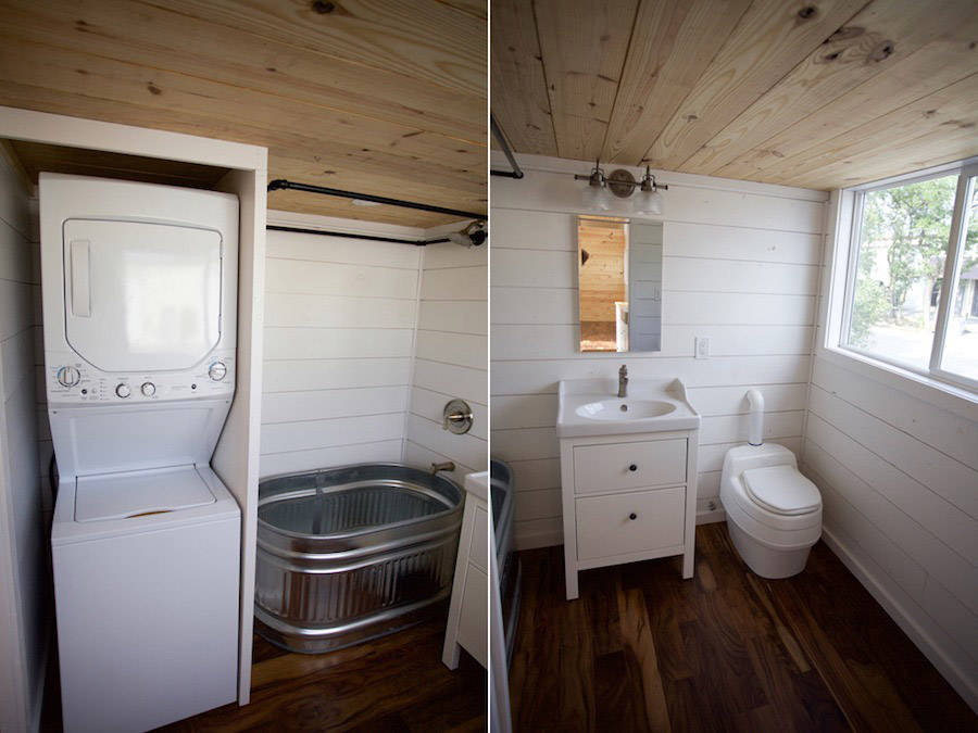 Bathroom - Custom Gooseneck by Nomad Tiny Homes
