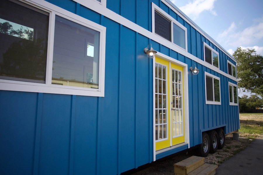 Exterior Side View - Custom Gooseneck by Nomad Tiny Homes