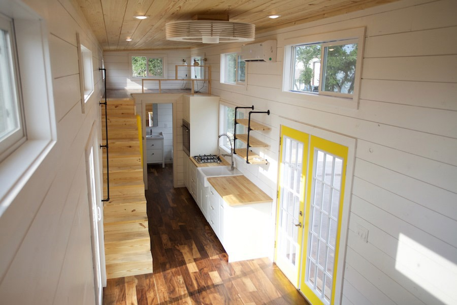 Nomad Homes gallery nomad micro homes Aerial Interior View Custom Gooseneck By Nomad Tiny Homes