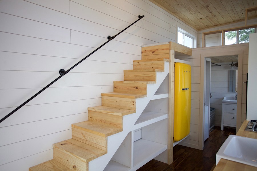 Storage Stairs - Custom Gooseneck by Nomad Tiny Homes