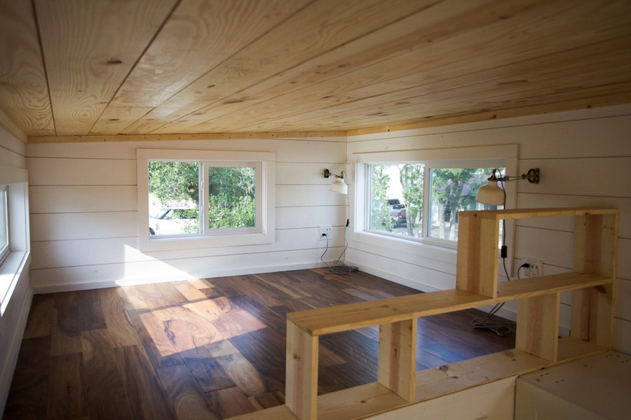 Bedroom Loft - Custom Gooseneck by Nomad Tiny Homes