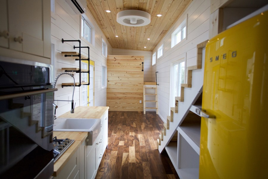 Kitchen and Living Room - Custom Gooseneck by Nomad Tiny Homes