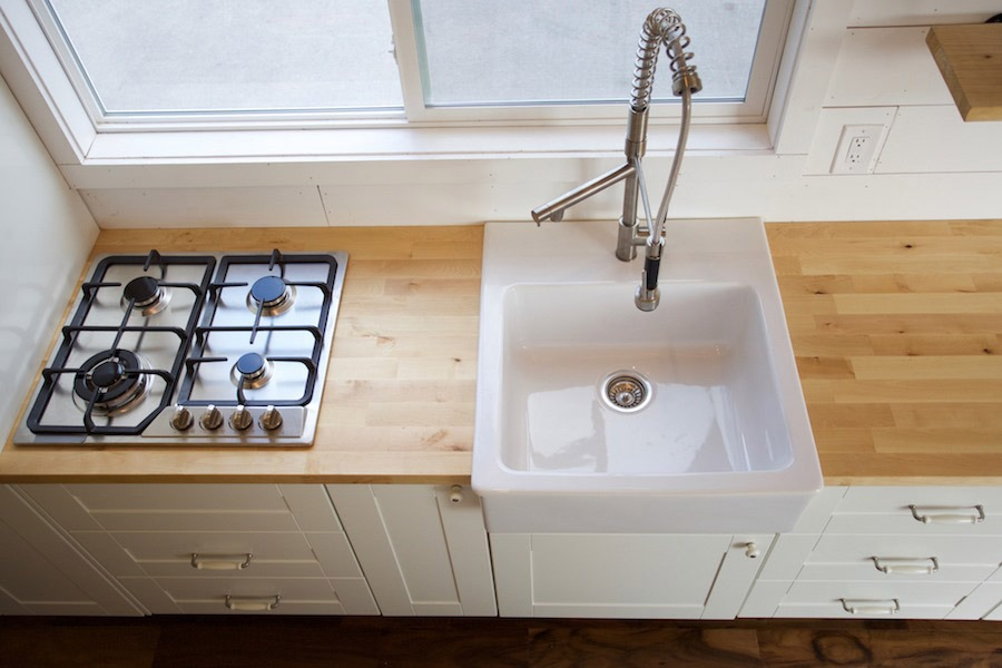 Kitchen Sink and Cooktop - Custom Gooseneck by Nomad Tiny Homes