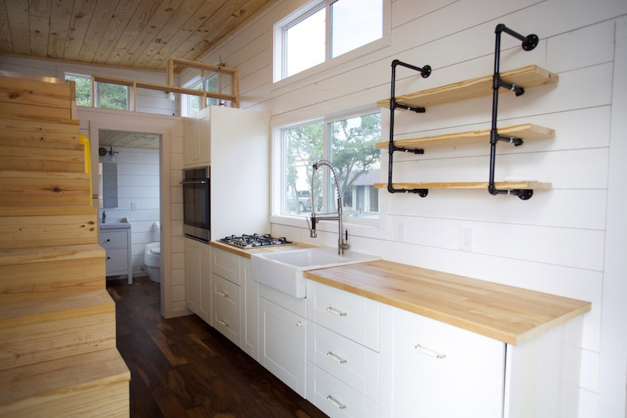 Kitchen - Custom Gooseneck by Nomad Tiny Homes