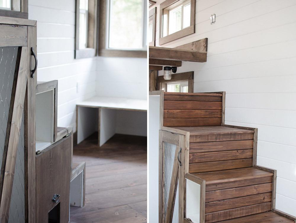 Storage Stairs - Rewild Tiny House on Wheels