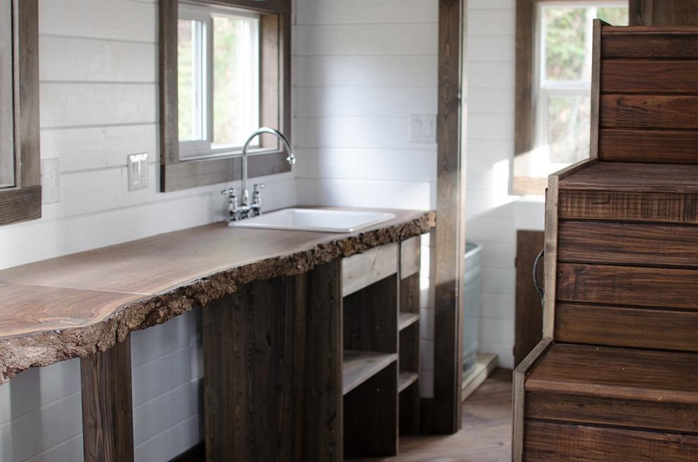 Kitchen Counter - Rewild Tiny House on Wheels