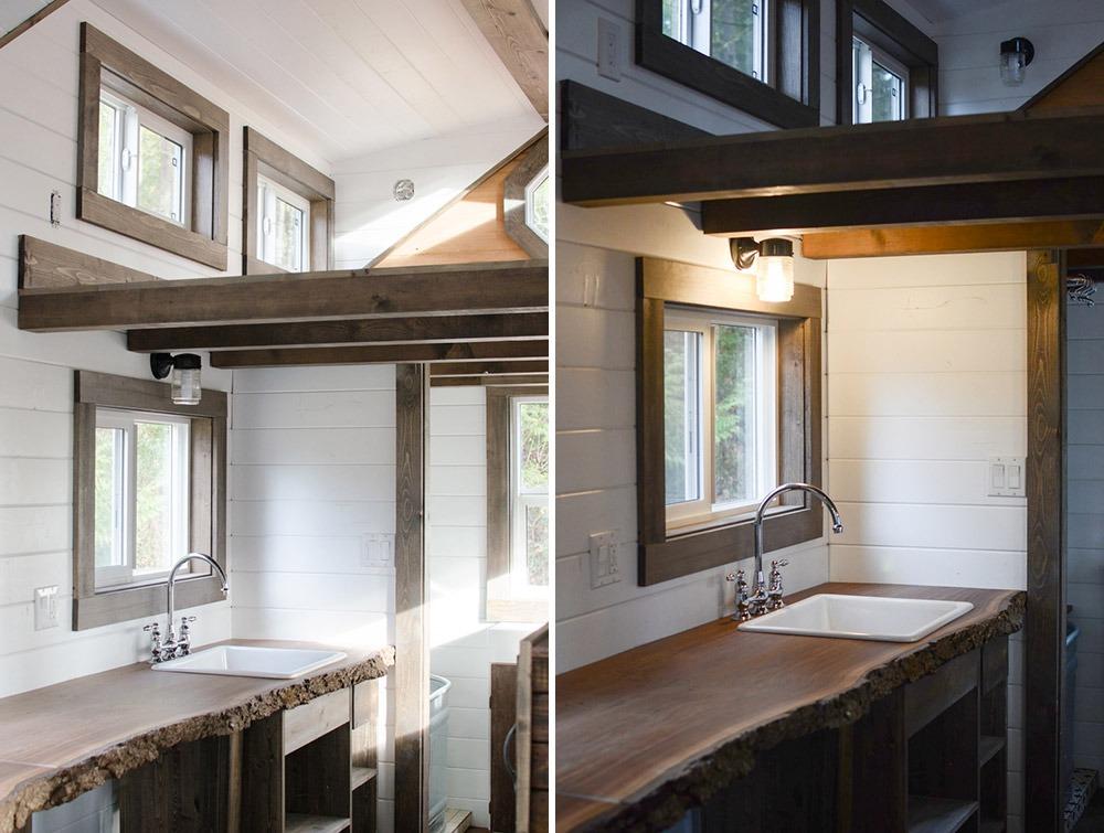 Kitchen and Loft - Rewild Tiny House on Wheels
