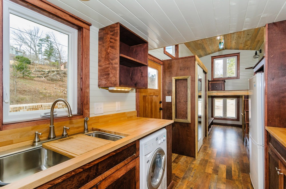 Kitchen and Living Room - Sheriff by Wishbone Tiny Homes