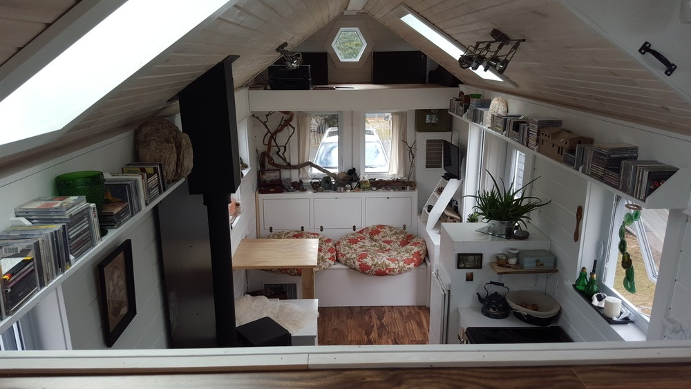 Aerial Interior View - T-Berry House by Full Moon Tiny Shelters