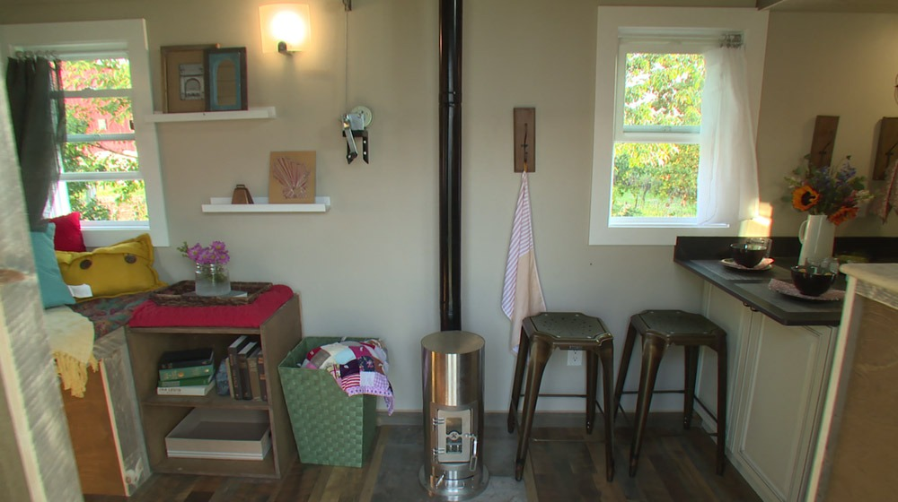 Fireplace - Watertown by Wishbone Tiny Homes