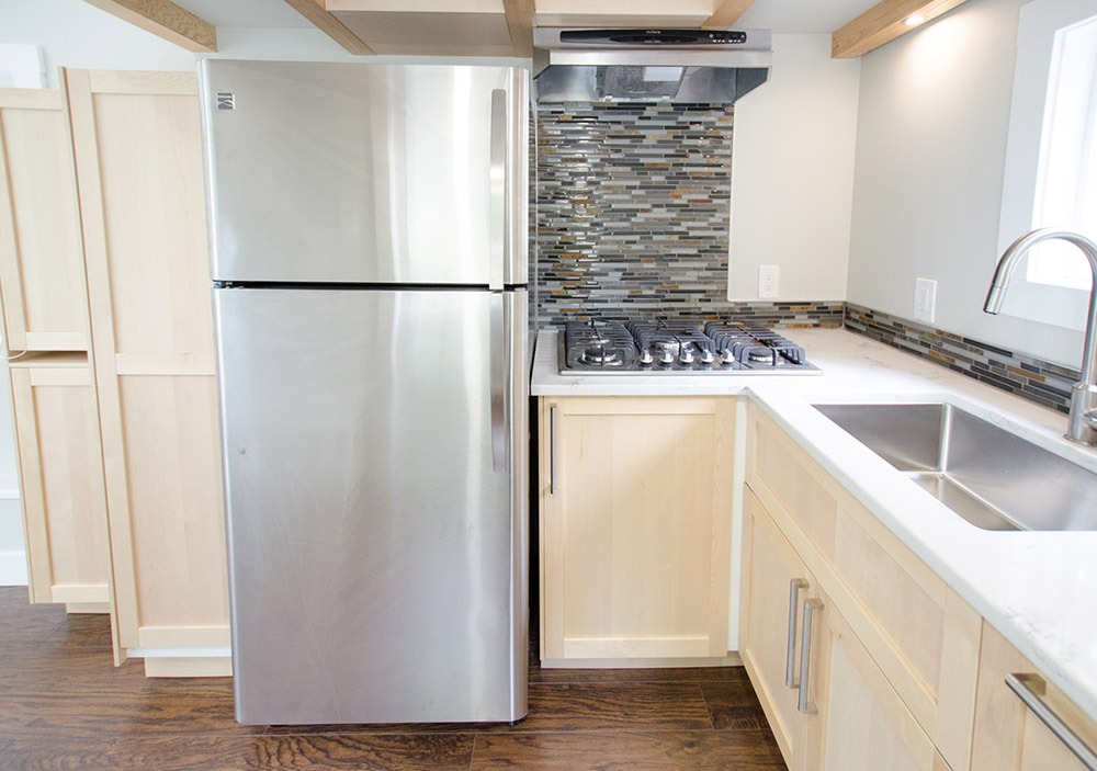 Kitchen - Refrigerator and Cooktop - Whisky Jack by Rewild Homes