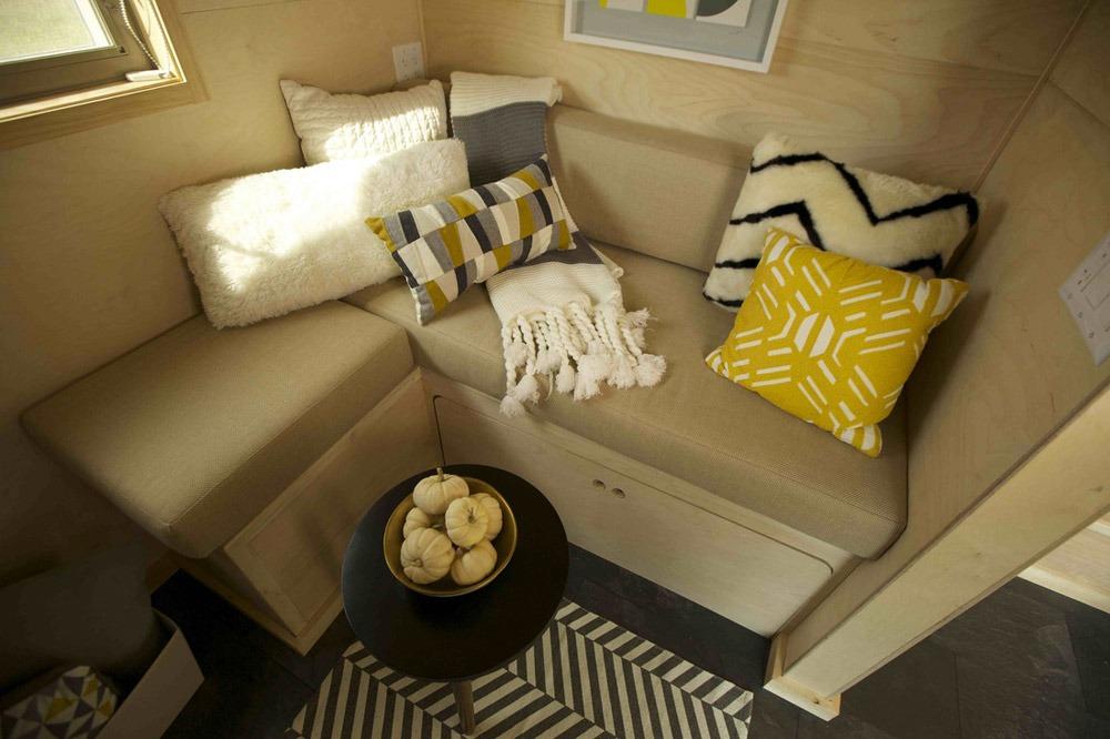 Couch w/ Storage - Kitchen - Z-Huis by Wishbone Tiny Homes