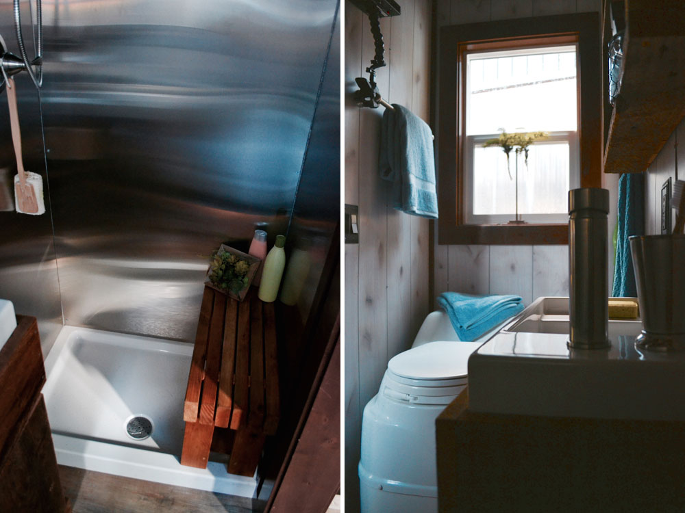 Stand up shower and composting toilet - Aerodynamic by Tiny Heirloom