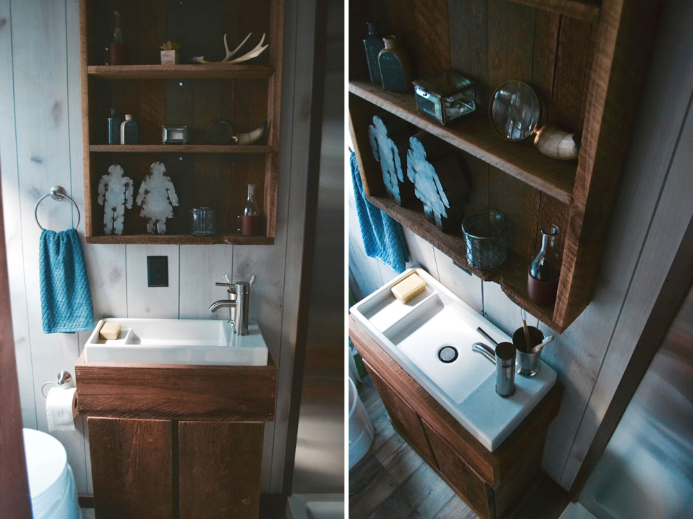 Bathroom sink and shelving - Aerodynamic by Tiny Heirloom