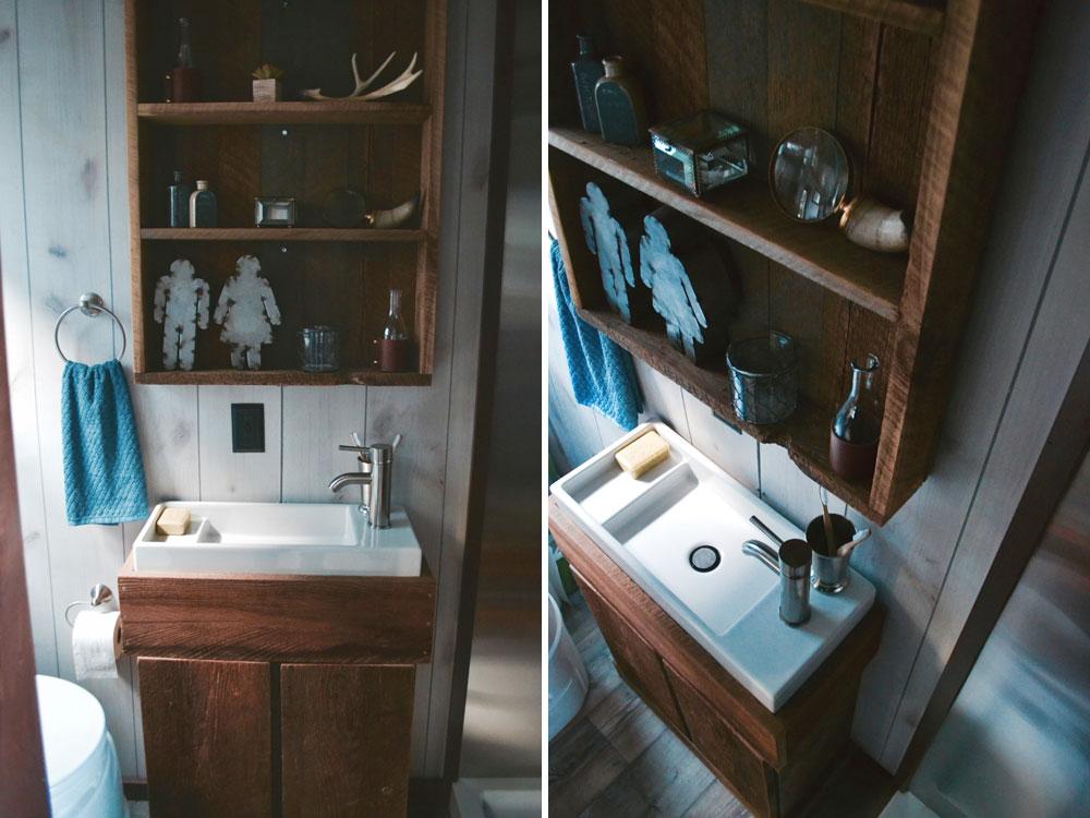 Bathroom sink and shelving - Aerodynamic by Tiny Heirloom