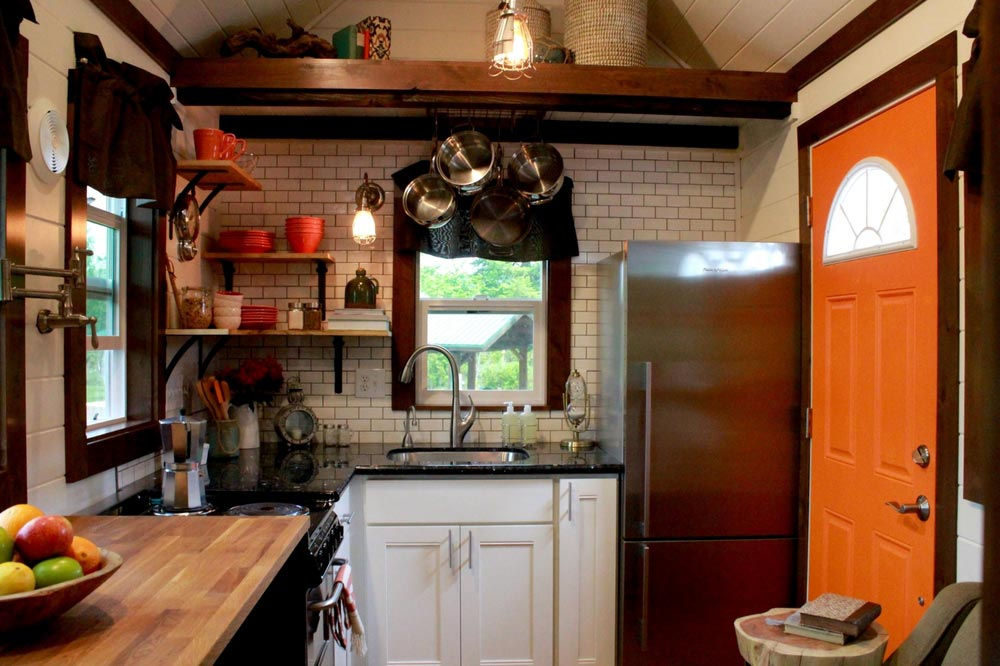 Gourmet kitchen with granite counters - Craftsman by Tiny Heirloom