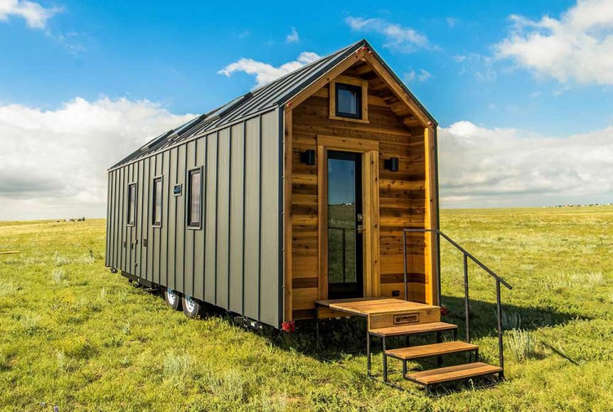 Wood and metal exterior - Farallon by Tumbleweed Tiny House Company