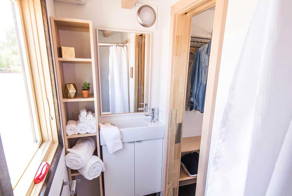 Beautiful and bright bathroom - Farallon by Tumbleweed Tiny House Company