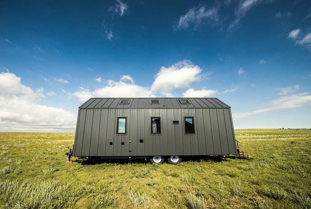 Standing seam metal roof and siding - Farallon by Tumbleweed Tiny House Company