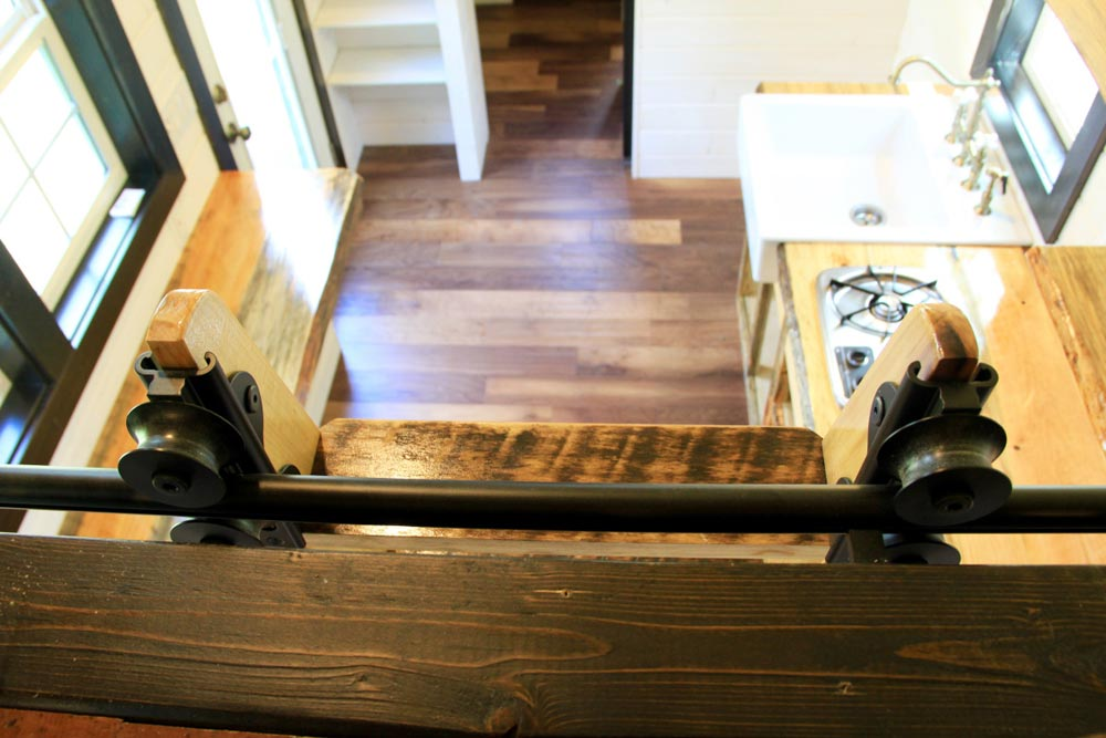 Looking down from loft - Fort Austin by Brevard Tiny House