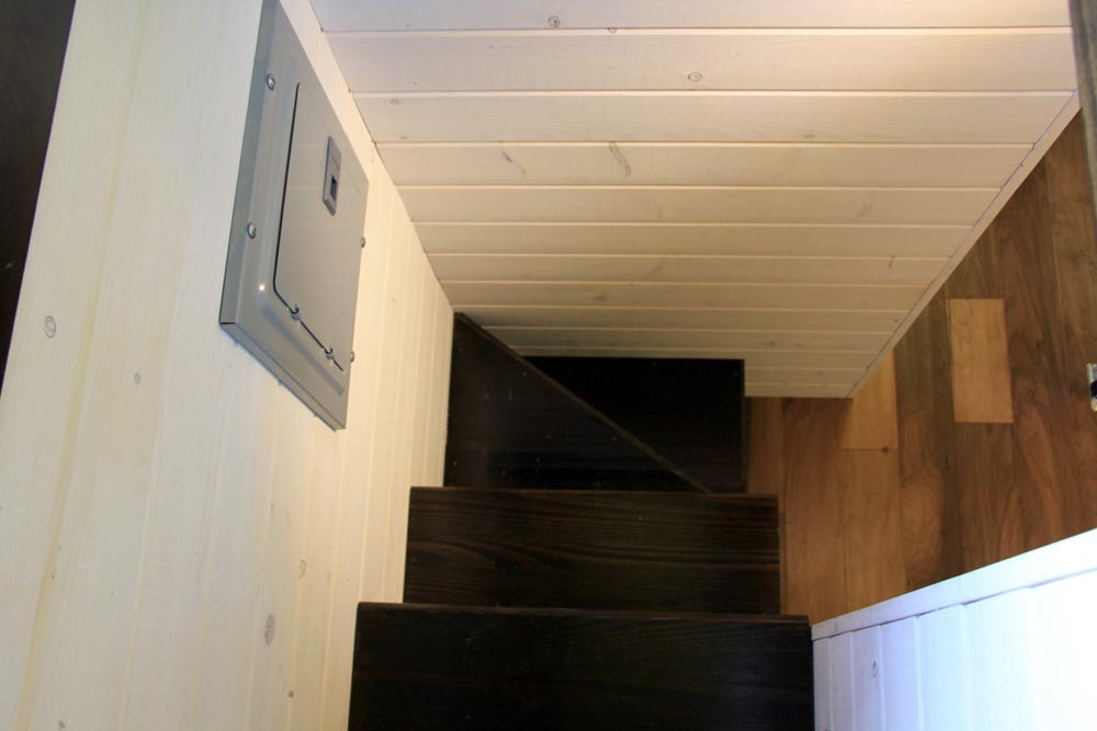 Storage stairs to main loft - Fort Austin by Brevard Tiny House