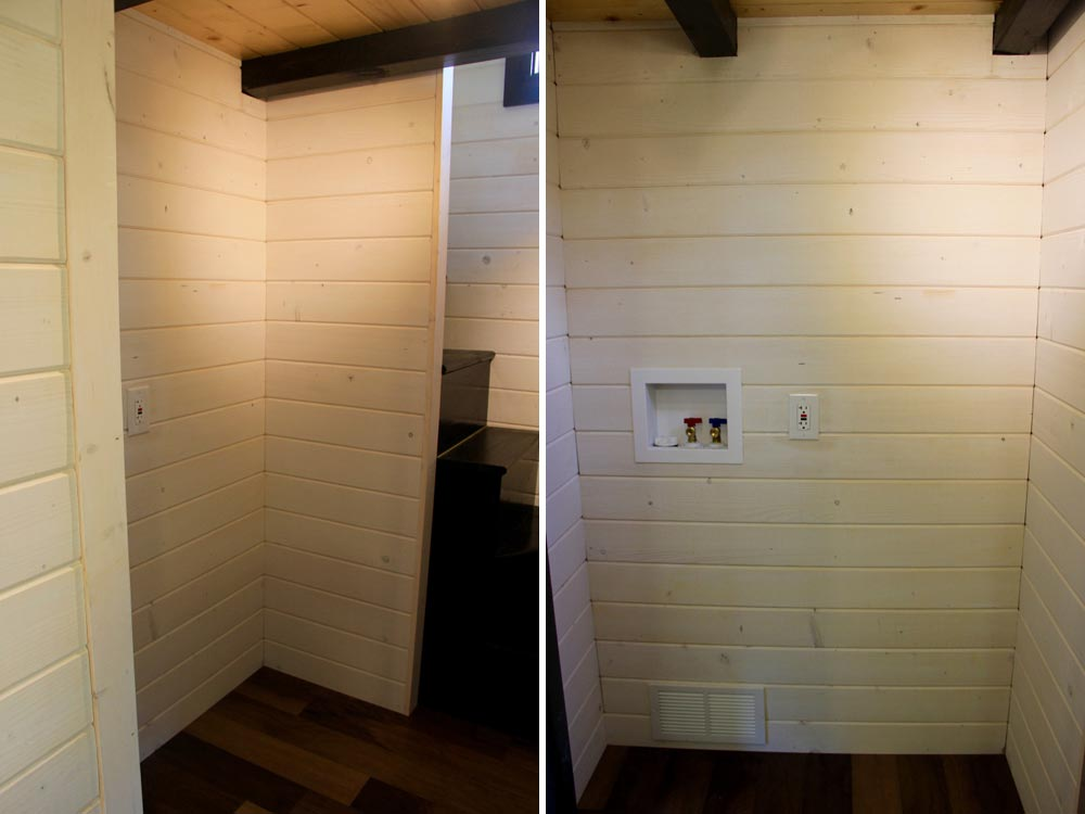 Washer/dryer hookups - Fort Austin by Brevard Tiny House