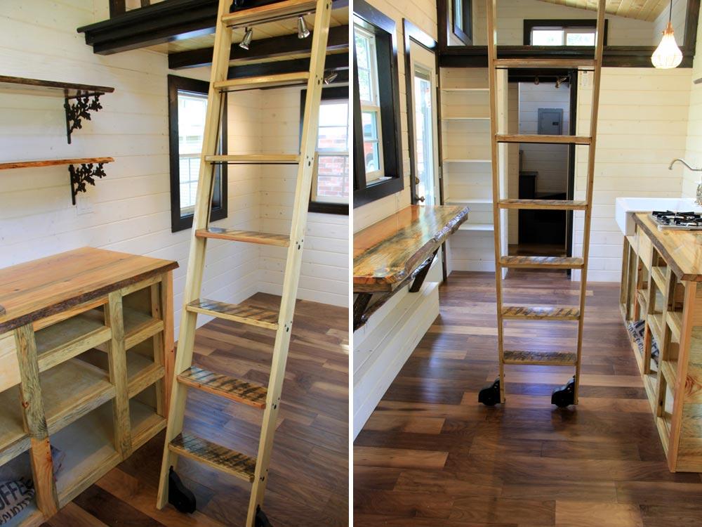 Loft ladder - Fort Austin by Brevard Tiny House