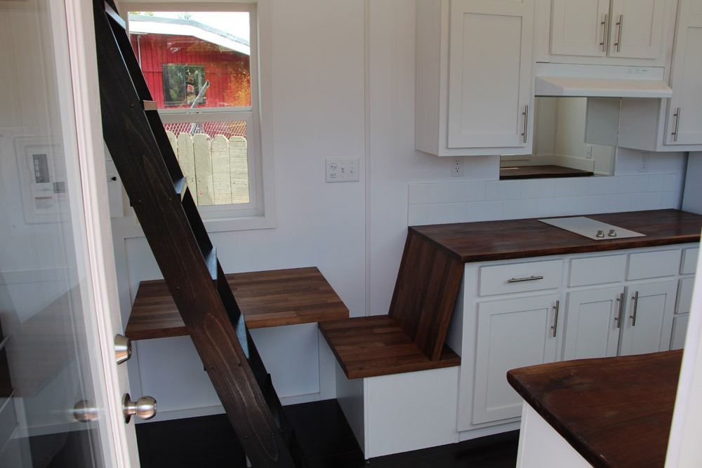 Built-In Table and Bench Seat - Mauna Kea by Tiny Pacific Houses