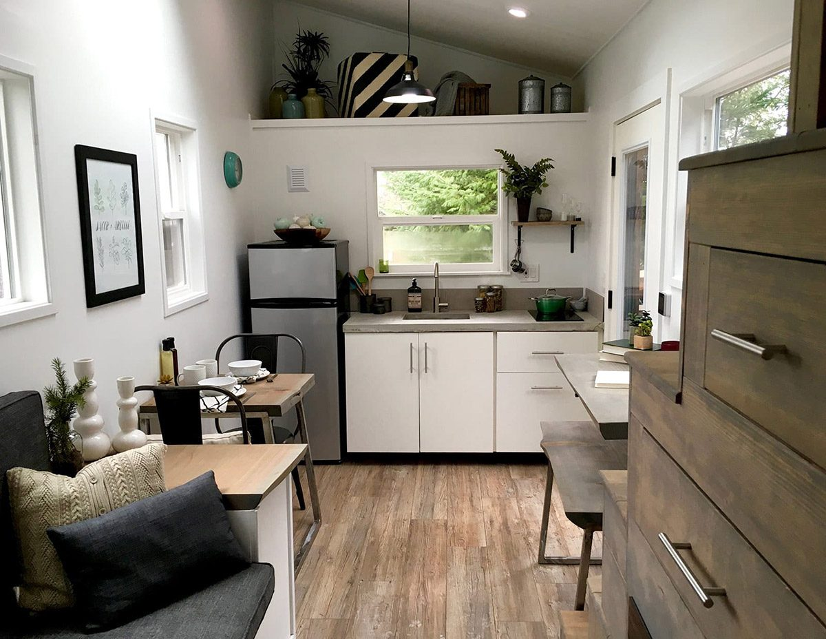 Kitchen and Living Room - Midcentury Modern by Tiny Heirloom