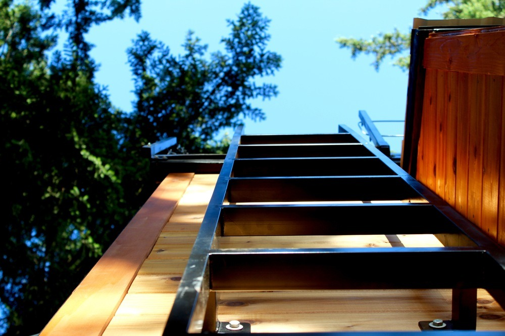 Ladder up to Roof Deck - Modern by Tiny Heirloom