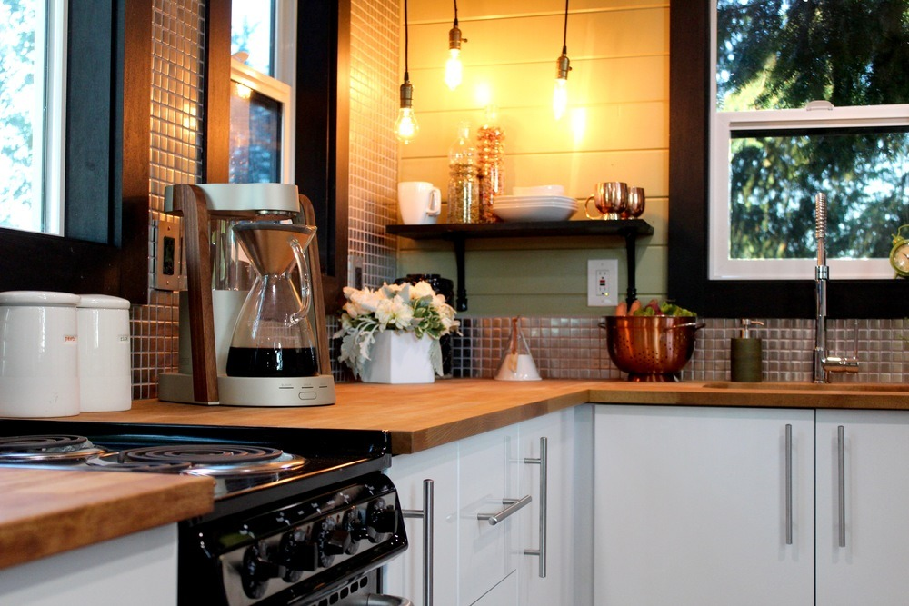 Kitchen Counter and Range - Modern by Tiny Heirloom
