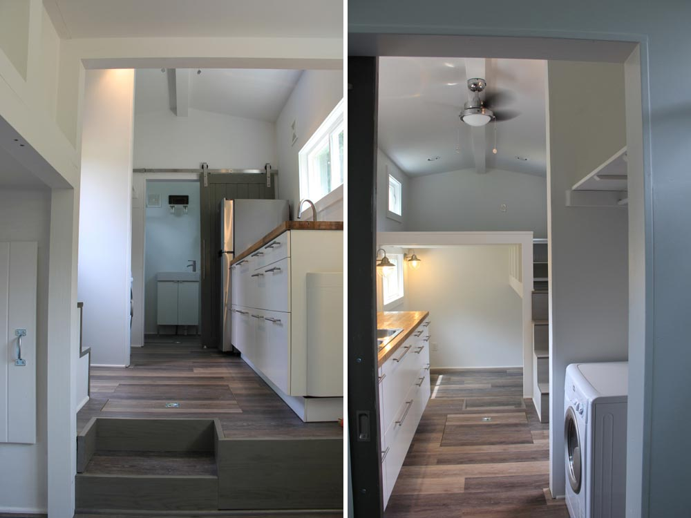 Kitchen and washer/dryer area - Every Tiny Moment by Brevard Tiny House