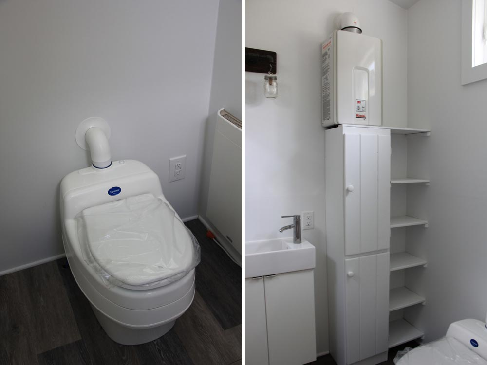 Composting toilet, sink and storage - Every Tiny Moment by Brevard Tiny House