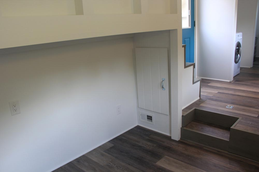 Storage area under stairs - Every Tiny Moment by Brevard Tiny House