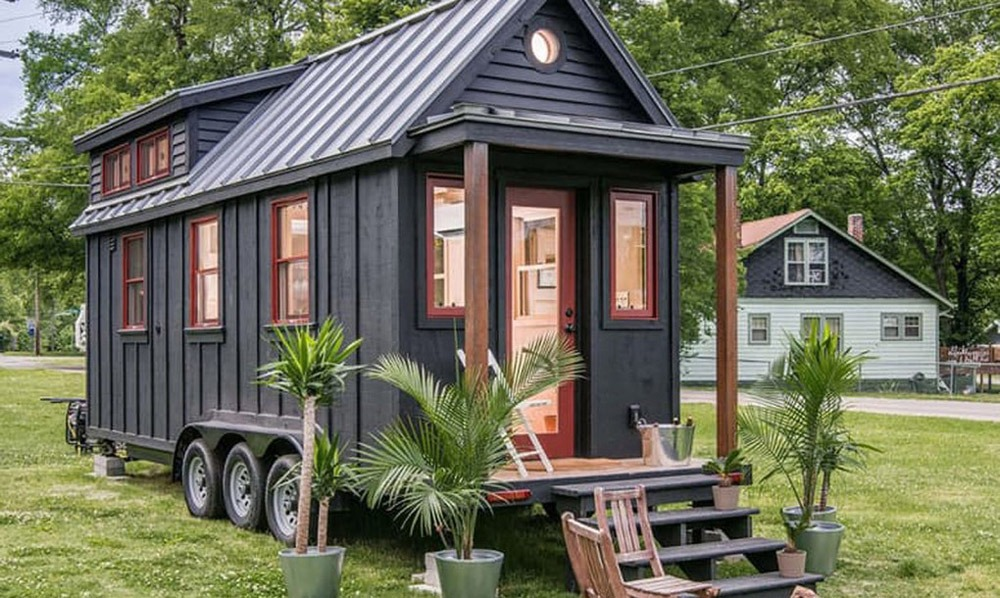 Exterior Side View - Riverside by New Frontier Tiny Homes