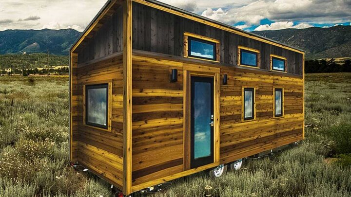 Shed style roof and modern exterior - Roanoke by Tumbleweed Tiny House