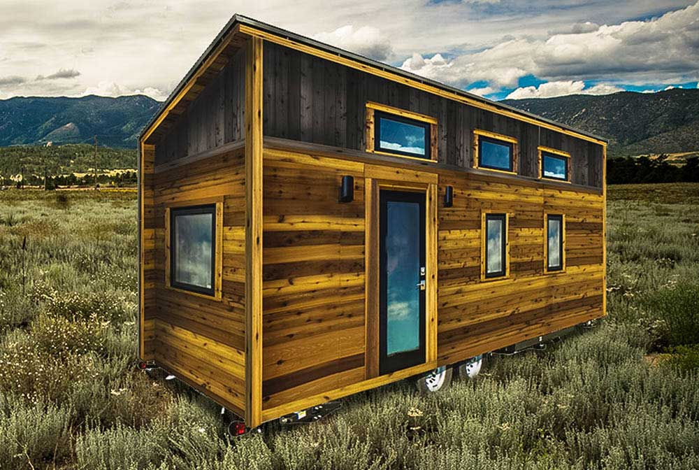 good shed roof tiny house #3: Shed style roof and modern exterior - Roanoke by Tumbleweed Tiny House