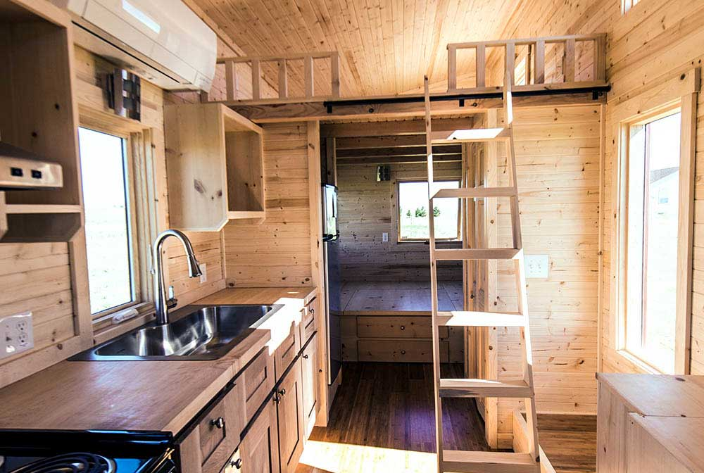 Roanoke by tumbleweed tiny house company tiny living - Interior design for small space house plan ...