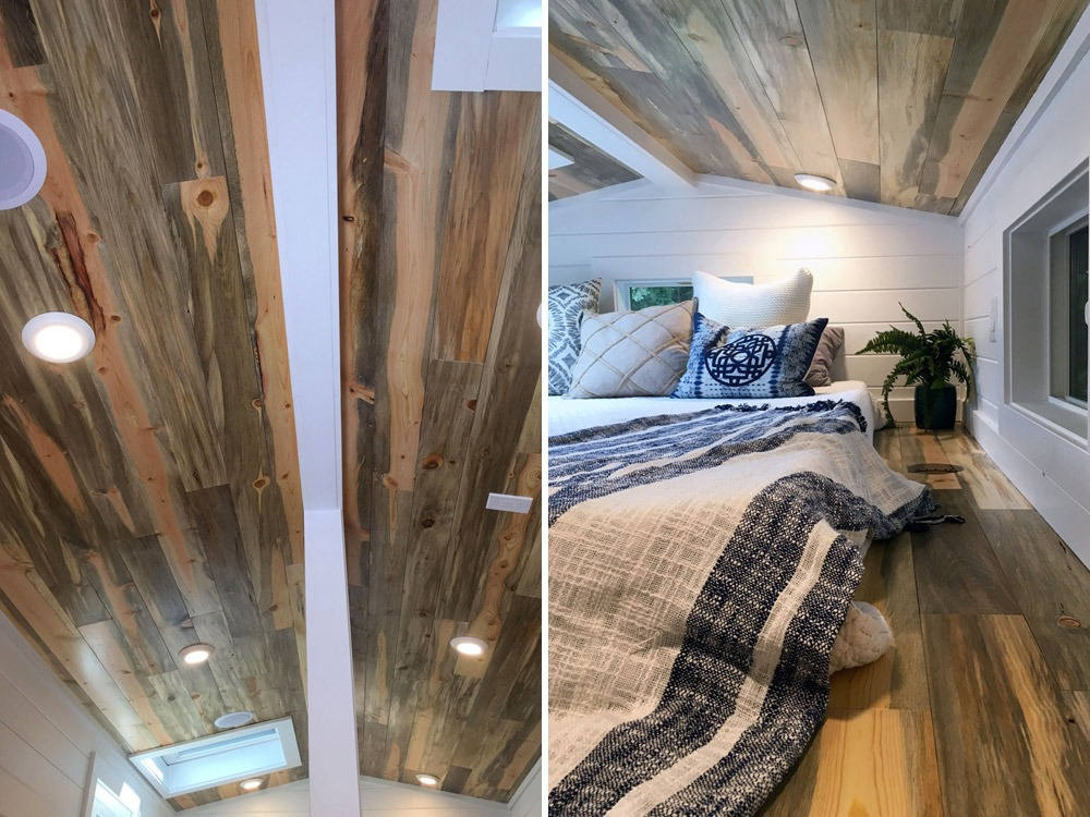 Beetle Kill Wood Ceiling and Bedroom Loft Flooring - Rocky Mountain by Tiny Heirloom