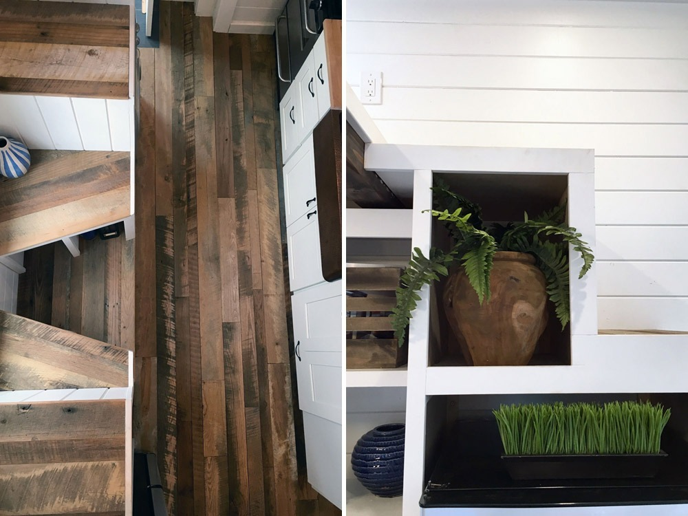 Hardwood Floors and Storage Stairs - Rocky Mountain by Tiny Heirloom