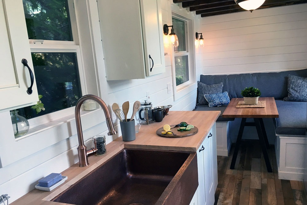 Tiny House Kitchen with Copper Sink - Rocky Mountain by Tiny Heirloom