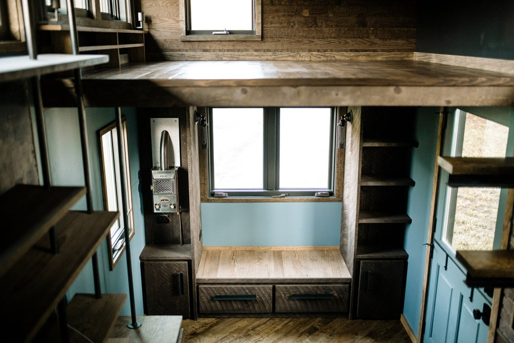 Loft and Built-In Couch - Rook by Wind River Tiny Homes
