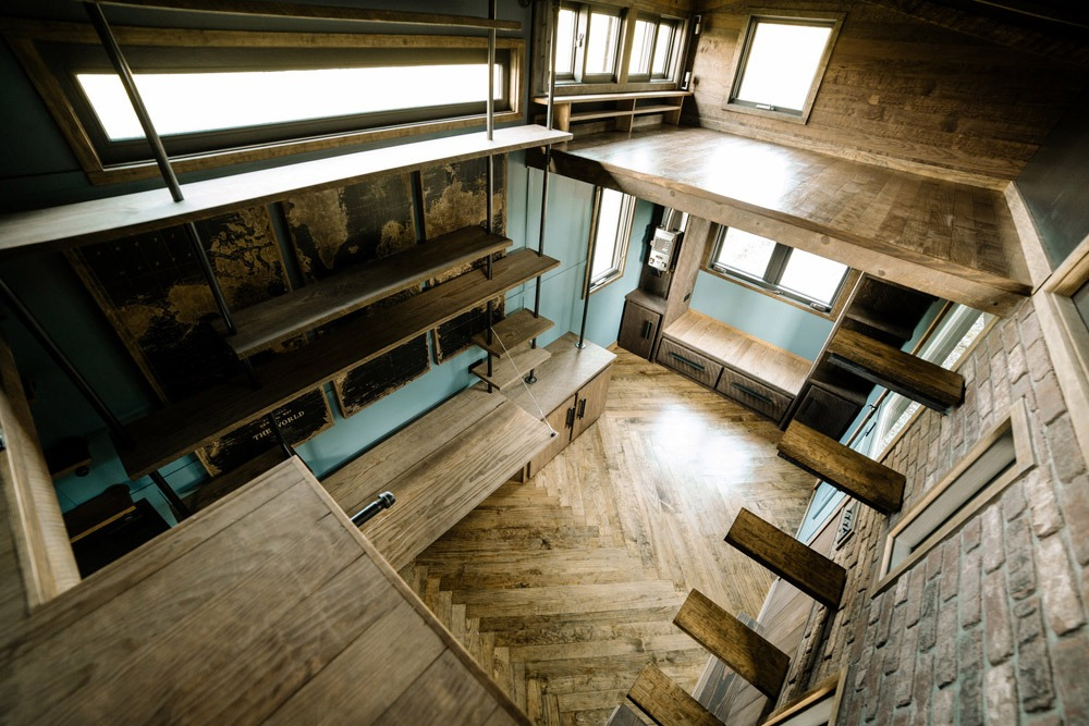 Aerial Interior View - Rook by Wind River Tiny Homes