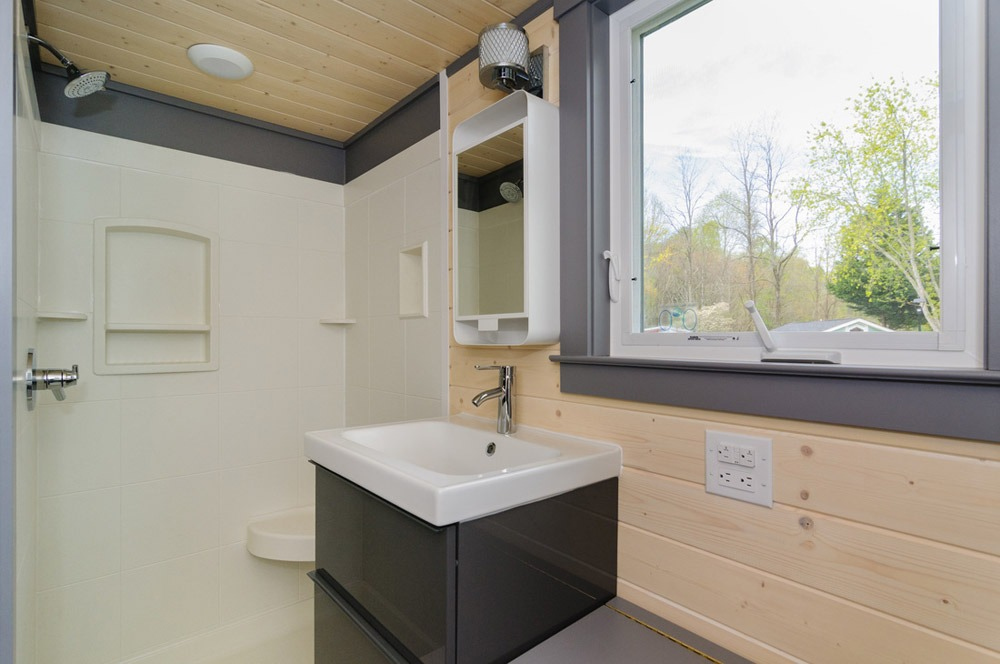 Bathroom - Sink and Shower - Squibb by Wishbone Tiny Homes