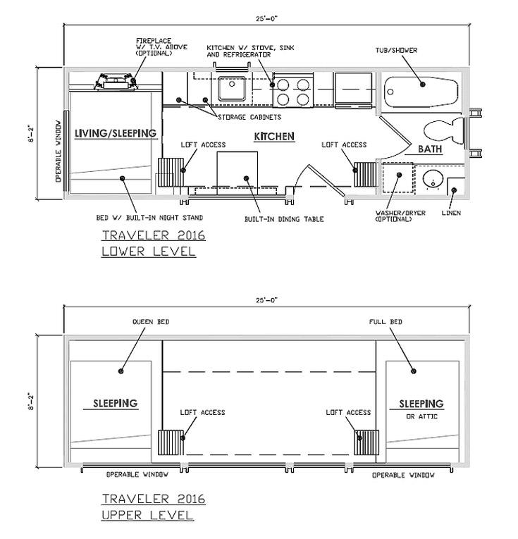 Floor Plans - Traveler by Escape Traveler