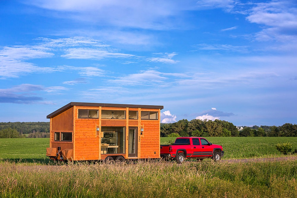 Tiny House Being Towed - Traveler by Escape Traveler