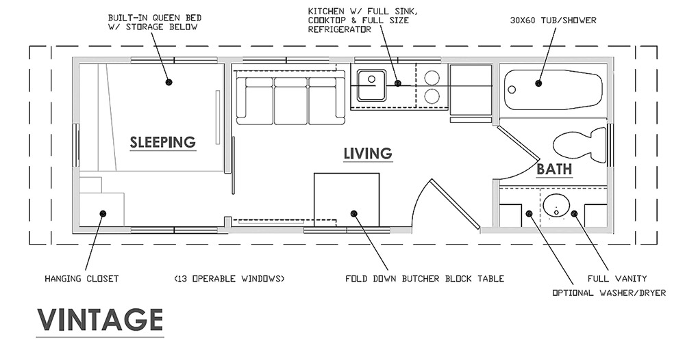 Floor Plan - Vintage by Escape Traveler